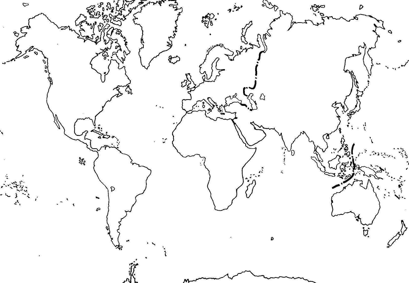 mapamundi para colorear continents