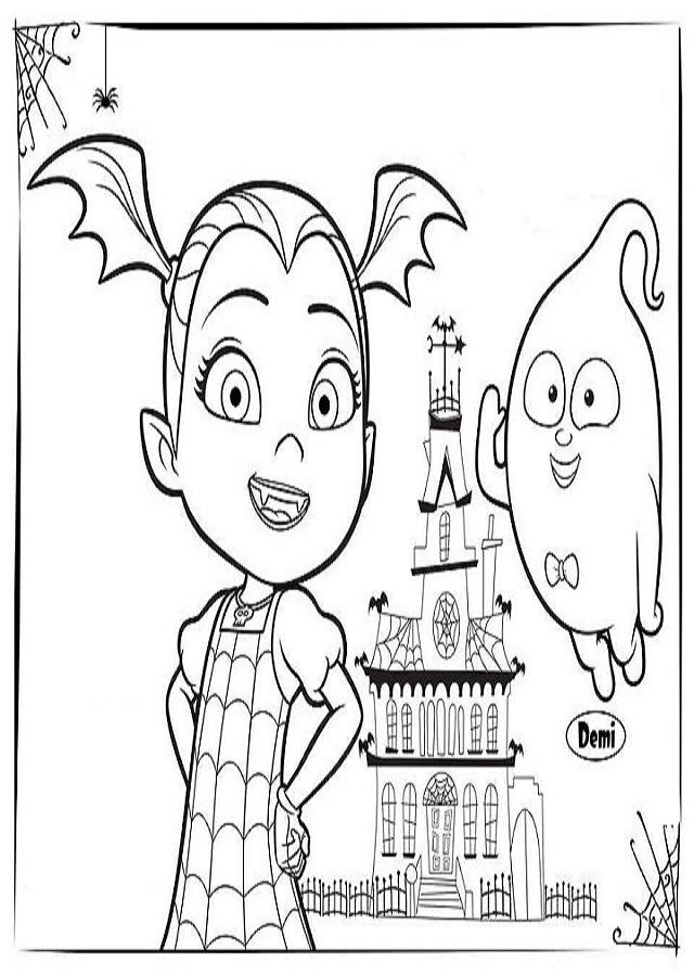 vampirina dibujos para colorear