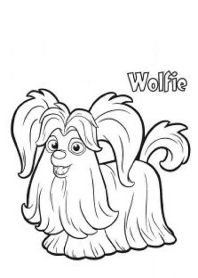 wolfie vampirina dibujos para colorear 1