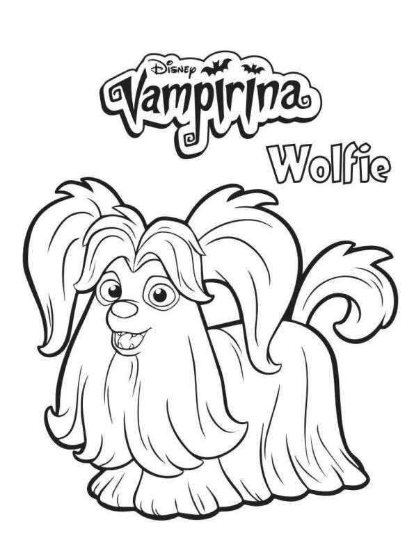 wolfie vampirina dibujos para colorear
