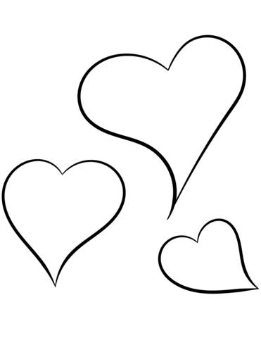 Dibujo de Corazones para Colorear 02