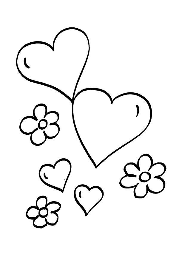 Dibujo de Corazones para Colorear 03