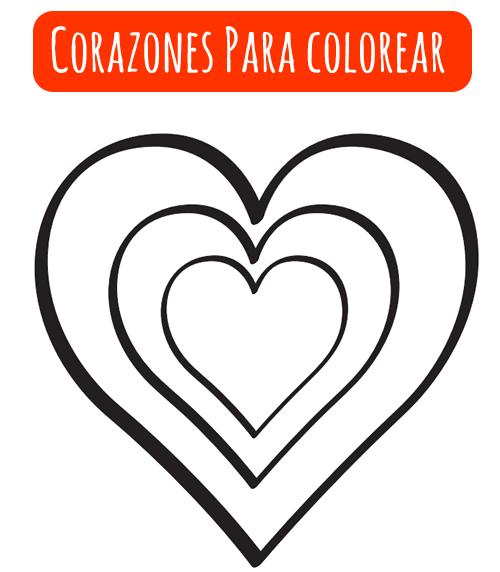 Dibujo de Corazones para Colorear 05