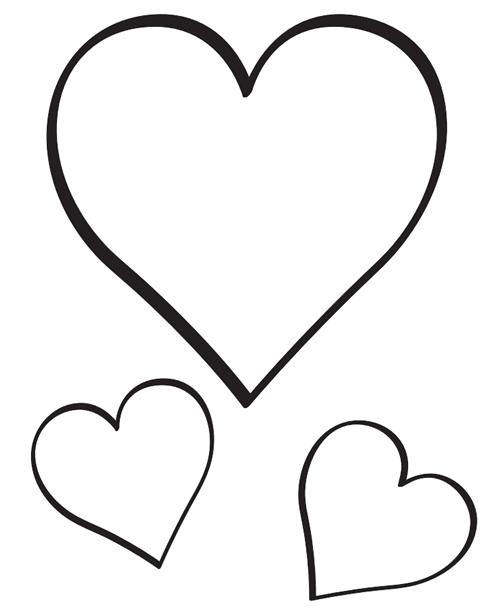 Dibujo de Corazones para Colorear 06