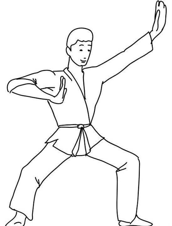 Dibujo de karate para colorear e1552322160808