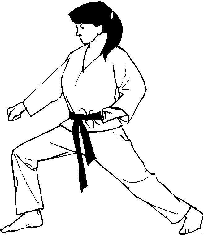Dibujos para Colorear Deportes 24 karate