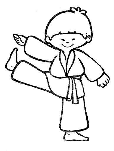 dibujos de karate para colorear 01