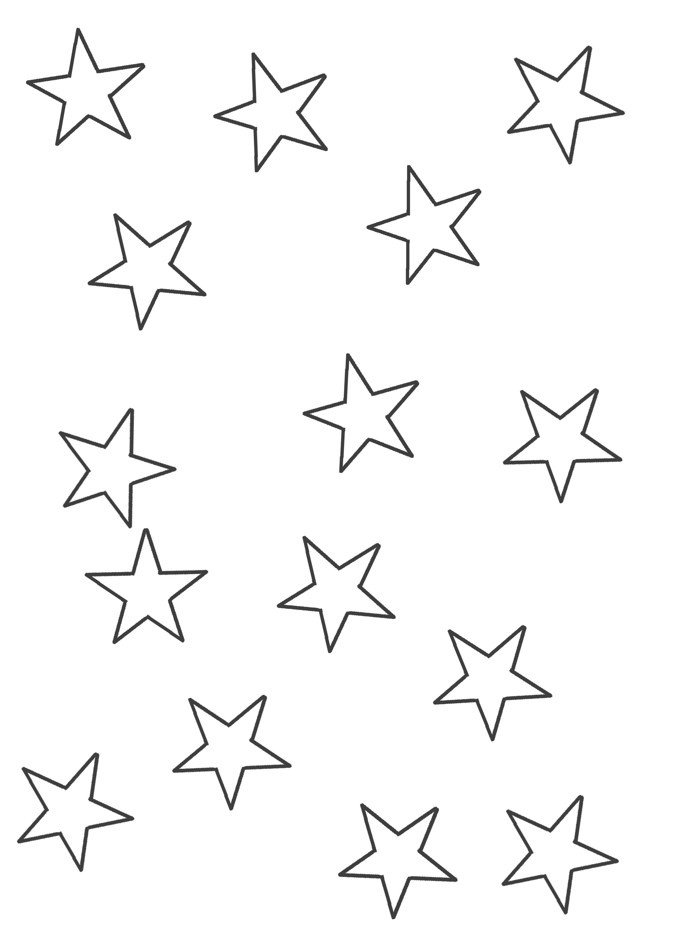 Dibujo de estrellas medianas e1554160013371