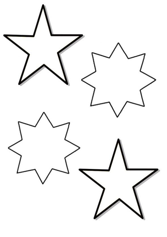 Dibujo infantil de Estrellas para colorear