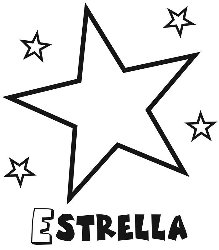 Dibujo infantil de estrella con estrellitas