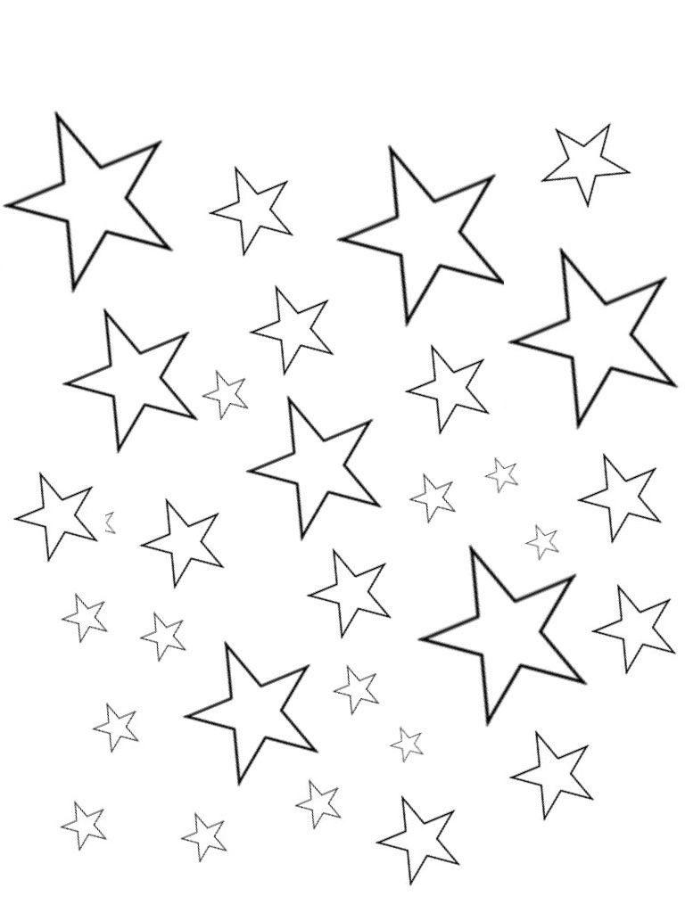 Estrellas para colorear Dibujo e1554159938759