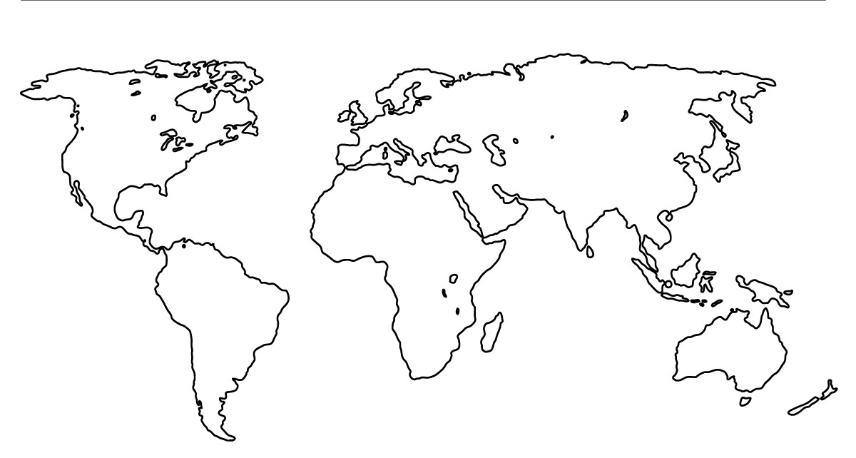 Mapa del Mundo dibujos para colorear e1555100573266