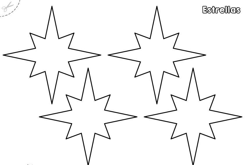 Plantillas de estrellas para imprimir 1 e1554159906566
