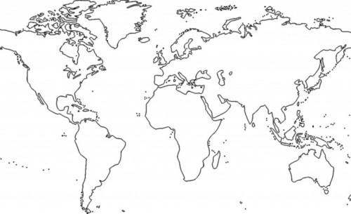 mapa del mundo colorear 01