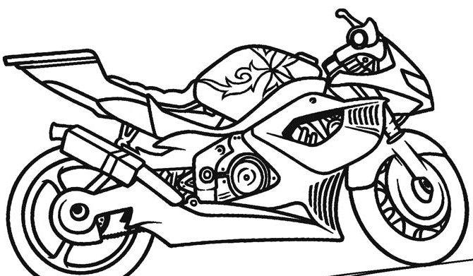 Dibujos De Motos Para Colorear Dibujos Para Colorear