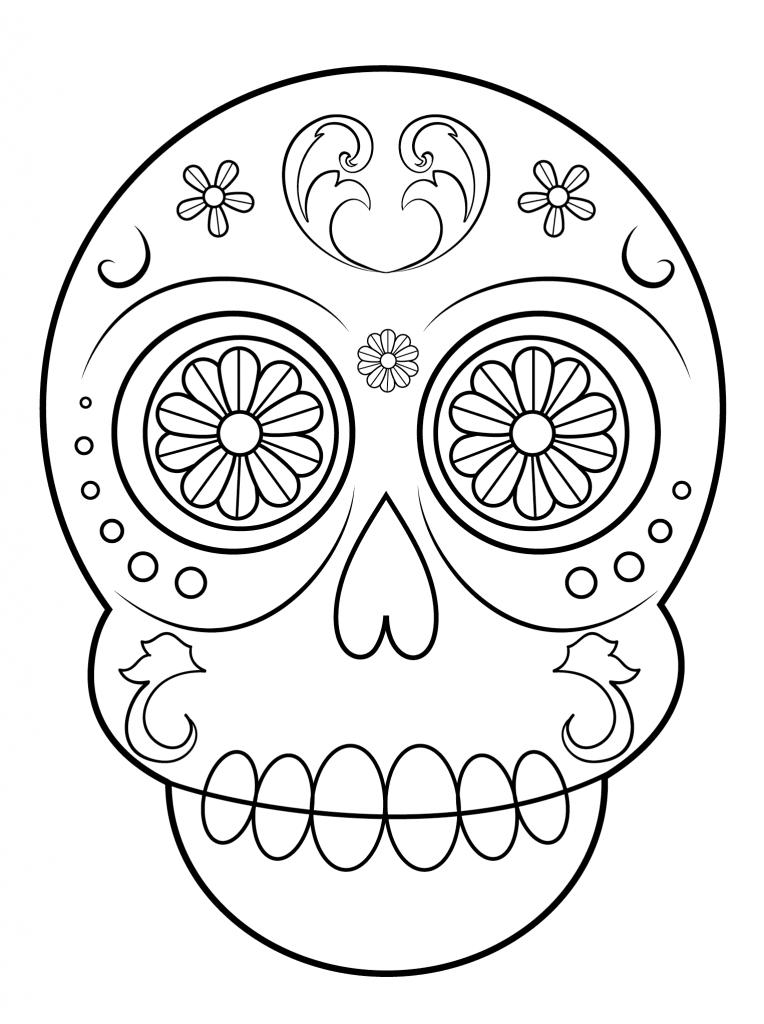 Dibujos de Calaveras para Colorear - Dibujos Para Colorear ...